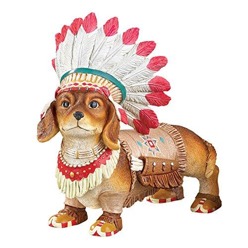 Native American Pet Southwest Garden Statues Décor, (Native Garden Collection)