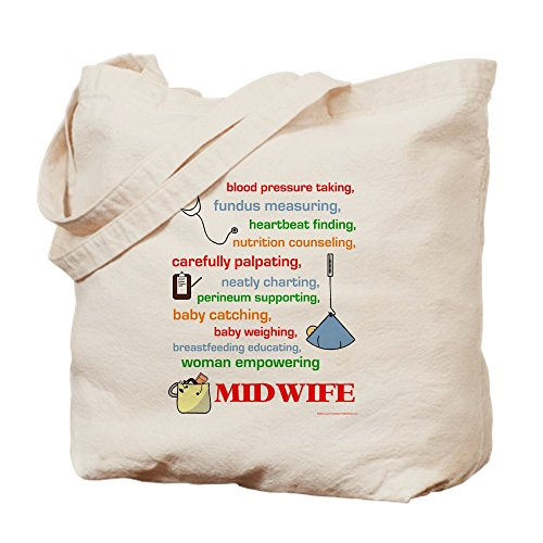 CafePress - Midwife/Job Description - Natural Canvas Tote Bag, Cloth Shopping Bag by CafePress (Image #2)