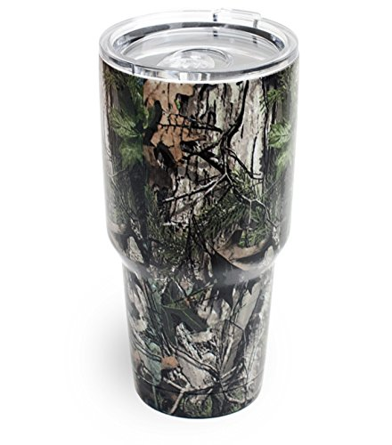 Double Wall Vacuum Insulated 18/8 Stainless Steel Tumbler Cup 30 Oz & 20 Oz Keeps Cold or Hot (30 oz, Camo)