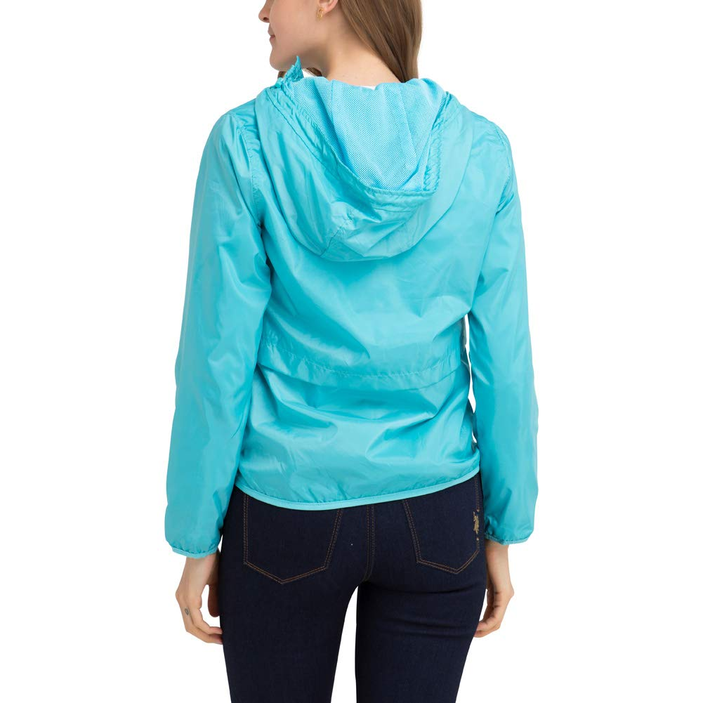 Womens Lightweight Windbreaker Jacket with Hood Jordache Enterprises Inc 18270-Parent U.S Polo Assn