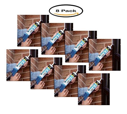 Pack of 8 - Dap 18152 11 Oz White Alex Plus Acrylic Latex Caulk With Silicone by DAP