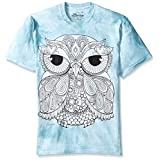 The Mountain Men's Colorwear Owl 1 Adult Coloring T-Shirt, Blue, Medium