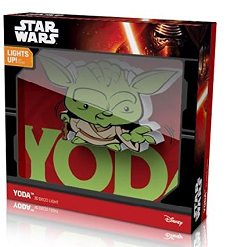 Comics+3D+Night+Lamp+ Products : Star Wars Deco Mini 3D Cordless LED Wall Night Light YODA