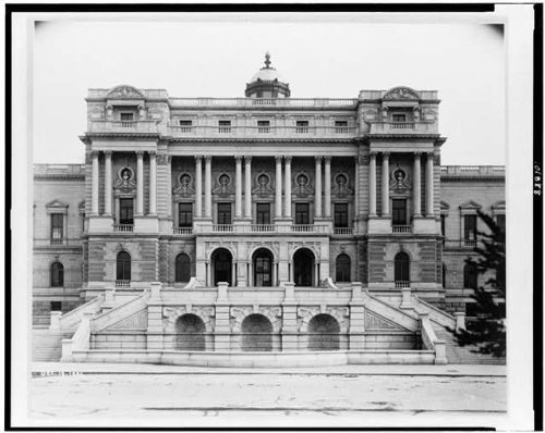 Infinite Photographs Photo: Front,Exterior,Stairs,Jefferson Building,Library,Congress,Washington DC,1895