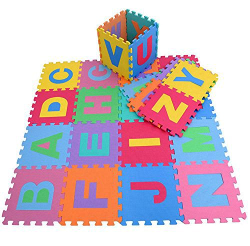 High Quality Educational Alphabet Foam Puzzle Floor Mat for Kids - Covers 26 sq ft (12