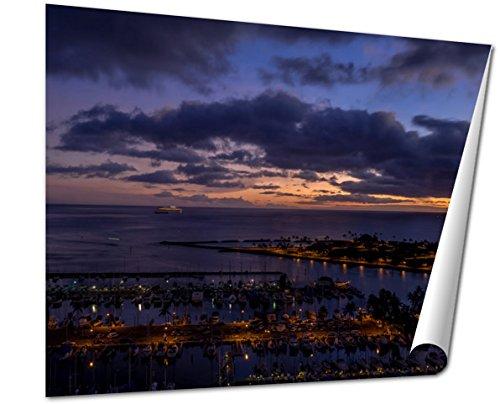 Ashley Giclee Fine Art Print, Panoramic View Of The Ala Moana Beach Park, 16x20, - Best Buy Ala Moana