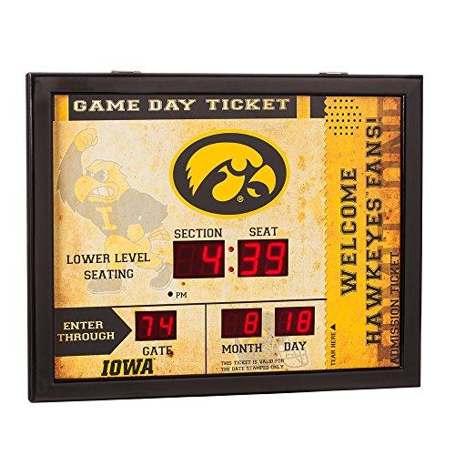 - Team Sports America NCAA Bluetooth Scoreboard Wall Clock, Iowa Hawkeyes