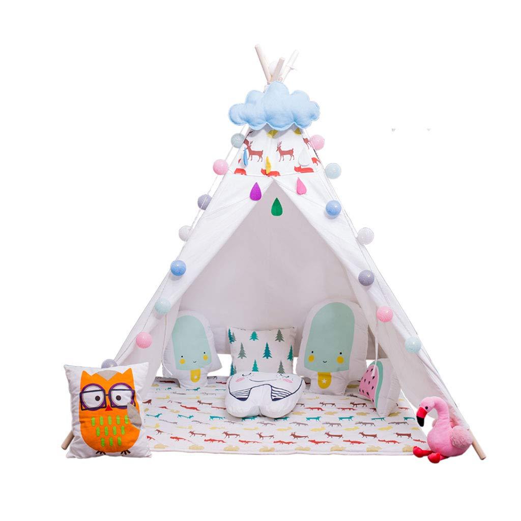 キッズテント ゲームテントポップアップ城 屋内リビングルーム読書コーナー男の子と女の子のおもちゃの家 家庭の子供のテントのおもちゃの家 子供の贈り物を送る マットを送る キッズテント (Color : 白, Size : 120*120*160cm) B07NKZSQKZ 白 120*120*160cm