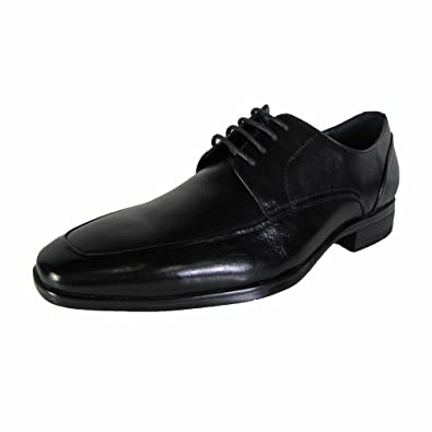 Steve Madden Mens P-Sury Oxford Dress Shoes Black Leather, US 8
