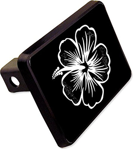 Hibiscus Trailer Hitch Cover Plug Funny Beach Novelty ()