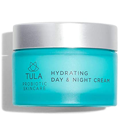 TULA Probiotic Skin Care Hydrating Day and Night Cream Moisturizer for Face, Anti Aging Face Cream, Contains Watermelon Fruit and Blueberry Extract 1.7 oz