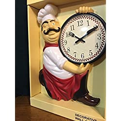 unbrand Fat Chef Kitchen Wall Clock