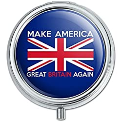 Make America Great Britain Again Anti Trump Funny Pill Case Trinket Gift Box