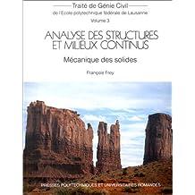 Analyse des structures et milieux continus. Mécanique des solides