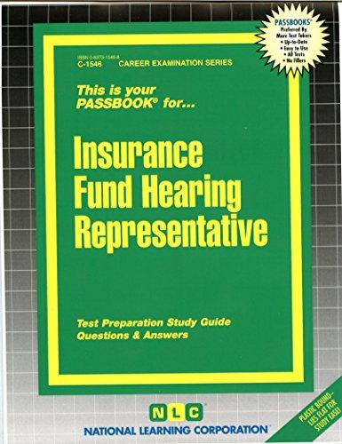 Download Insurance Fund Hearing Representative(Passbooks) Pdf