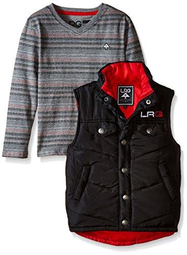 Lrg Cotton Vest (LRG Kids Little Boys' Black Vest Set, 5)