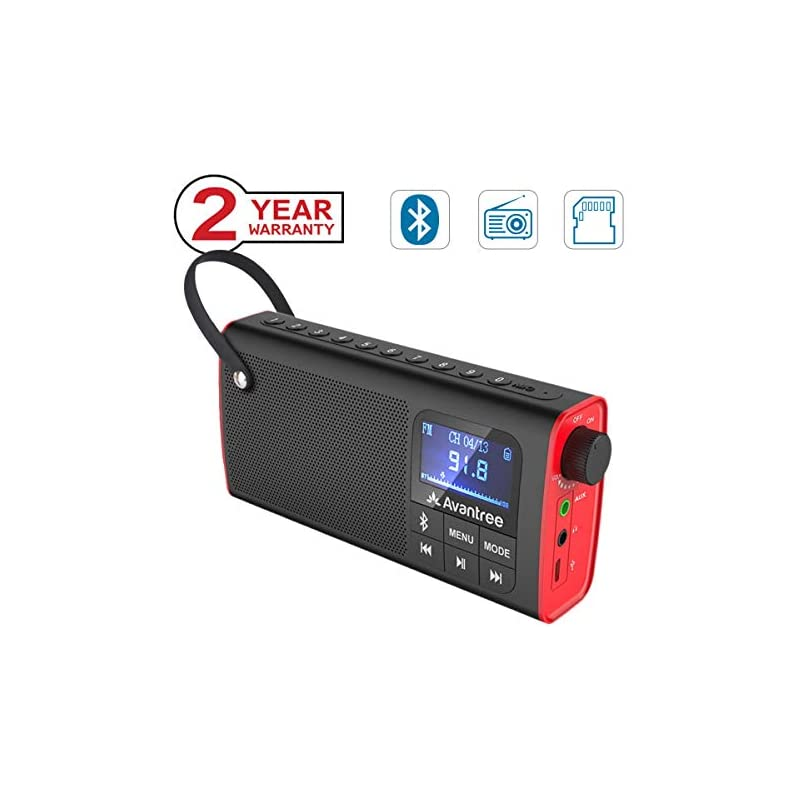 Avantree 3-in-1 Portable FM Radio with B