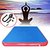 Winnerbe 118x78.7x3.94inch Inflatable Air Track Mat Outdoor Sports Gymnastics Fitness Training Yoga Pad