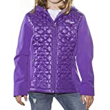 Snozu Softshell Hooded Jacket for Girls (X-Small / 5-6, Purple)