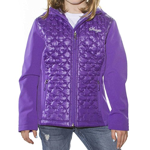 Snozu Softshell Hooded Jacket for Girls (X-Small / 5-6, Purple) by Snozu