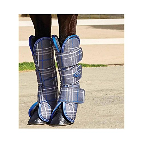Weatherbeeta Wide Tab Travel Boot Pony Grey Plaid by Weatherbeeta