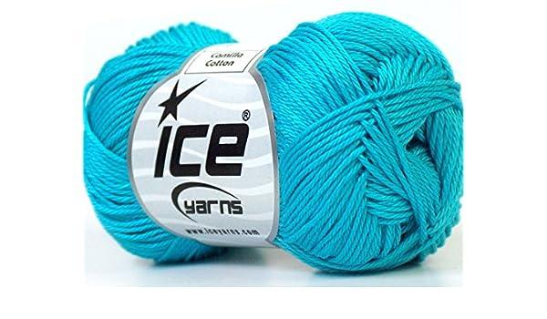 Lot de 6 madejas hilo hilos Camila algodón de hielo (100% algodón ...
