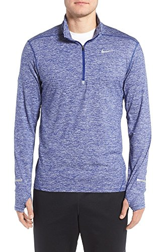 Nike Men's Element Half Zip 683485 458 Deep Royal Blue/Heather/Reflective Silver Size XX-Large