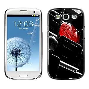 TopCaseStore / la caja del caucho duro de la cubierta de protección de la piel - Abstract Yellow - Samsung Galaxy S3 I9300