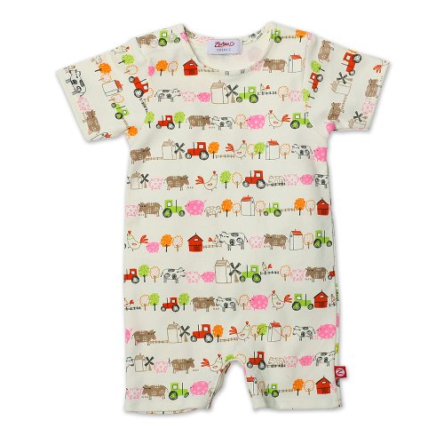 Zutano Baby-Girls Newborn Little Farm Organic Bodysuit
