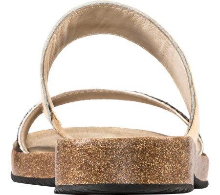 Adam Tucker Autunno 9 Donna Open Toe In Pelle Scamosciata Con Diapositive Sandalo Crema / Nero Lentiggine Pony