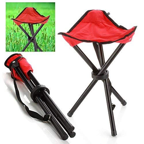 Taburete plegable de acampada Portátil de red 3patas silla trípode asiento para al aire última intervensión senderismo,...