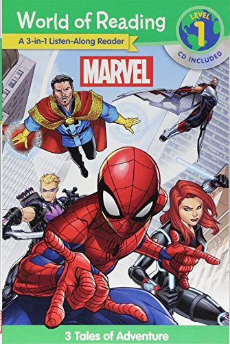 Reading Cd - World of Reading Marvel 3-in-1 Listen-Along Reader (World of Reading Level 1): 3 Tales of Adventure with CD!