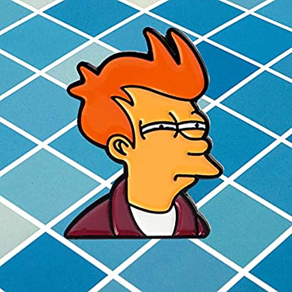 Futurama Philip J Fry Lively Pin Brooch Badge Emblem Corsage Enamel Badges Spiky Denim Mouth Clasp Comedy Comics Gift for Children Kids