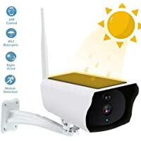 Outdoor Solar Security Camera, OOOUSE HD 1080P Solar Wireless Wifi IP Camera, IP66 Waterproof Home Surveillance Bullet Camera with 10m Night Vision, Motion Detection, Remote Viewing for Android & iOS