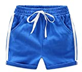 Etecredpow Children's Toddler Elastic Wasit Comfy Drawstring Soft Hot Shorts Blue 3T