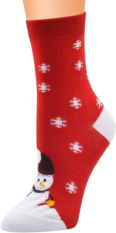 YWLINK Calcetines De AlgodóN De Mujer De Navidad Imprimir Calcetines De Piso Antideslizantes MáS Gruesos Calcetines De Alfombra Suave Y Confortable Transpirable Casual Regalo De Navidad: Amazon.es: Ropa y accesorios