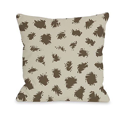 (Wooly Mammoth - Oatmeal Brown Throw Pillow by OBC 18 X)