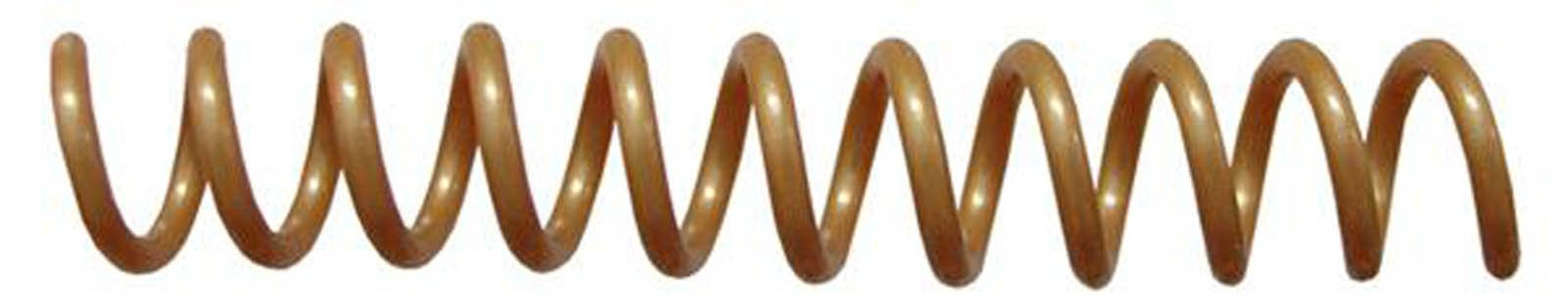 7mm (9/32) Gold Coil Bindings (Qty 100) Color: Gold, Model: , Office/School Supply Store