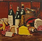backsplash tile pictures Continental Art Center BD-0751 8 by 8-Inch Wine with a Yellow Cheese Ceramic Art Tile