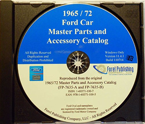 FORD MASTER PARTS & ACESSORY CATALOG CD - Models covered: Mustang, Bronco, Torino, Pinto, Falcon, Fairlane, Futura, Landau, Maverick, Thunderbird, Ranchero, Station Wagon. FOR YEARS 1965 1966 1967 1968 1969 1970 1971 1972 1973 1974 1975 1972 Ford Station Wagon