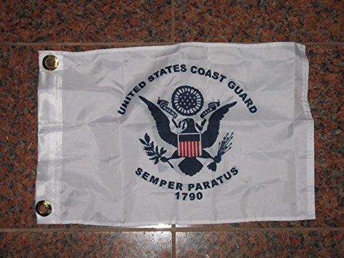 12X18 U.S. Coast Guard 2Ply Double Sided Car Boat Flag 12