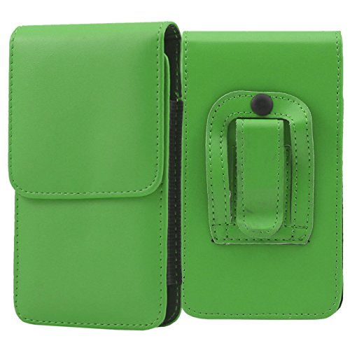 iTALKonline Plum Axe II Green PREMIUM PU Leather Vertical Executive Side Pouch Case Cover Holster with Belt Loop Clip and Magnetic Closure