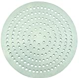 Winco APZP-8SP, 8-Inch Super-Perforated Aluminum Pizza Disk with 114 Holes, Pizza Screen Crisper