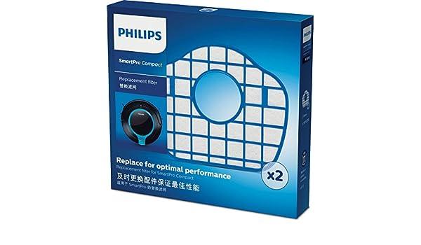Philips SmartPro Compact FC8065/01 accesorio y suministro de vacío Robot vacuum Filtro - Accesorio para aspiradora (Robot vacuum, Filtro, Azul, Blanco, ...