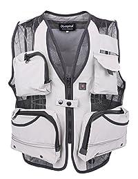 LUSI MADAM Men's Back Pocket Photography Mesh Fishing Vest