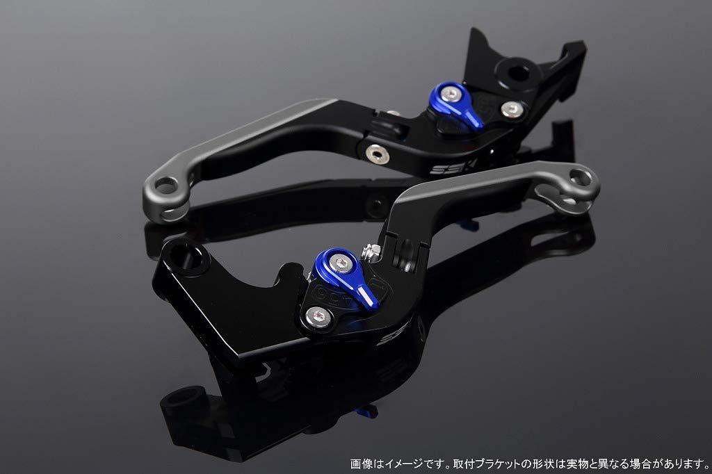SSK アジャストレバー 可倒延長式 レバー本体カラー:マットブラック アジャスターカラー:マットブルー エクステンションカラー:マットチタン LVGM057BK-BETM B07MX74NDD