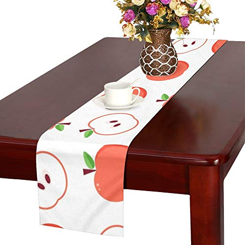 (WUTMVING Flat Design Red Apples Table Runner, Kitchen Dining Table Runner 16 X 72 Inch for Dinner Parties, Events, Decor)