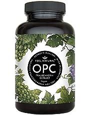 OPC Traubenkernextrakt - 240 Kapseln. Höchster OPC Gehalt nach HPLC - Premium: aus französischen Weintrauben. 860mg Extrakt mit 620mg OPC je Tagesdosis. Laborgeprüft, vegan, hergestellt in Deutschland