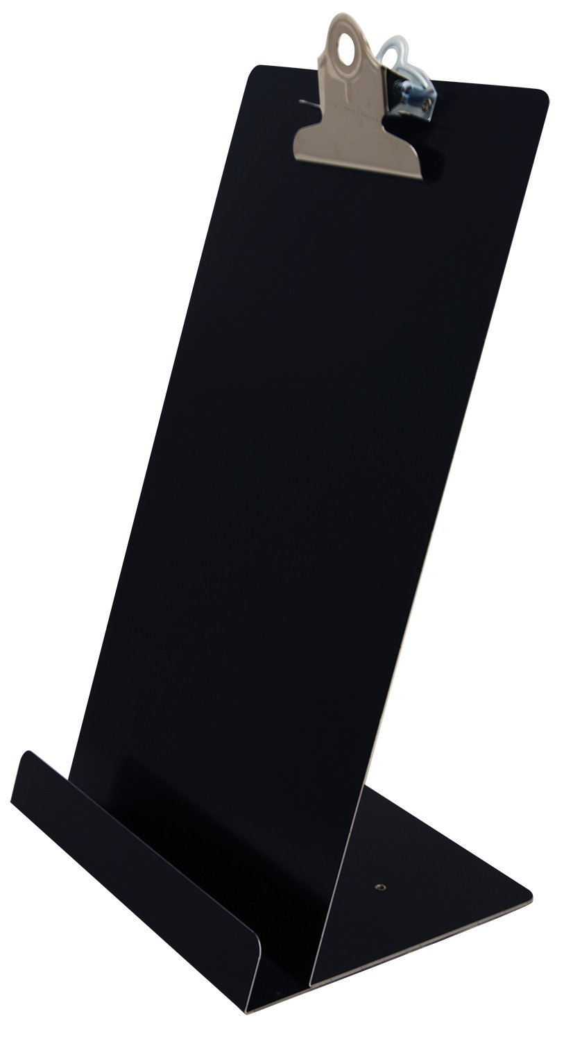 Saunders Free Standing Clipboard/Tablet Stand - Black - 'Memo' Size: 6.5'' x 12.25'' (22530)