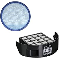 Green Label for Hoover Exhaust HEPA Filter with Carbon Insert + Primary Blue Sponge Filter for Wind Tunnel 2/3 Pet. Compares to 305687002, 304087001.